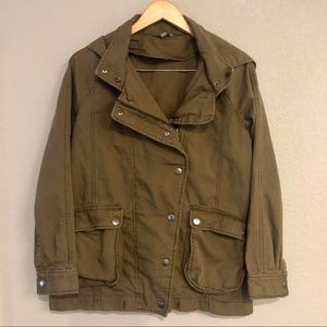 Rubbish olive green hooded jacket